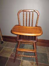 Antique Wood High Chair Vintage Wood High Chair Ebay