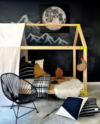 fabriquer chambre un lit cabane à fabriquer pour une décoration chambre fille