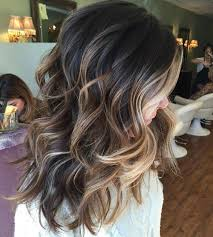 light brown highlights on dark hair top balayage for dark hair black and dark brown hair balayage