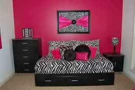 bedroom zebra pink house design and planning