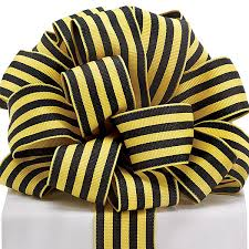 striped grosgrain ribbon yellow and black striped grosgrain ribbon 1 yard