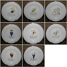 pottery barn reindeer dessert plates ebay