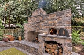 Brick Oven Backyard by Outdoor Fireplace And Pizza Oven Landscape Modern With Bread Ovens