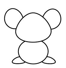 simple mouse drawing how to draw a mouse cartoon easy drawing