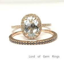aquamarine engagement rings 559 oval aquamarine engagement ring sets pave black diamond