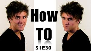 messy bed hair for men hair video tutorial on how to style