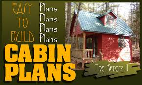 cabin blueprints free easy to build cabin plans