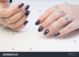 amazing manicure natural nails gel polish stock photo 562437940