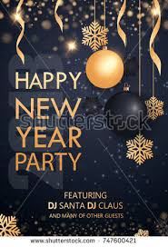 happy new year invitation merry christmas happy new year 2018 stock vector 747600421