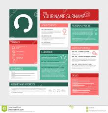 Resume Templates Minimalist by Simple Profile Dashboard Template Stock Illustration Image 50832932