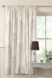buy damask natural print pencil pleat curtains from the next uk