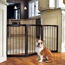 wooden blocking dog gate limited access kitchen indoor limit