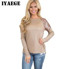 tunic blouse iyaege sequined shirt 2018 womens tops and blouses