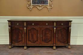 mahogany sideboard with gold leaf accents for the dining room large gold leaf accented 18th century reproduction sideboard