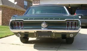 1968 mustang rear end highland green 1968 ford mustang gt hardtop mustangattitude com