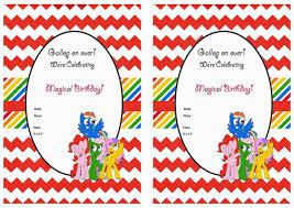 free my little pony birthday invitations free printable