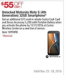 costco iphone black friday costco wholesale black friday unlocked motorola moto g 4th gen