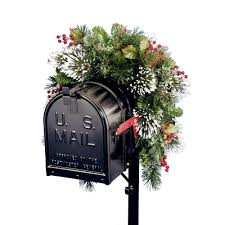 national tree company 36 in wintry pine collection mailbox cover