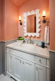 Coral Aqua Bedroom Grey Bathroom With Coral Wallpaper Grey Bathroom With Coral