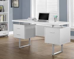 Computer Desk With File Cabinet by Monarch Specialties Computer Desk White Silver 60