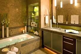 brick red forest green brown bathroom accessories lime and bath