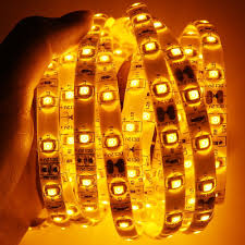 Strip Led Lights Ebay by New Free Shipping 16 4ft Flexible Waterproof Ip 65 Amber Led