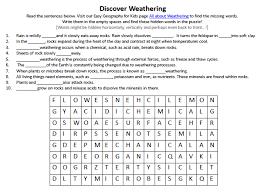 weathering worksheet all worksheets weathering and erosion