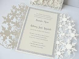 snowflake wedding invitations winter wedding invitation snowflake wedding invite december
