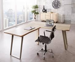 Schreibtisch Rund Schreibtisch Live Edge 180x180 Akazie Gebleicht Gestell Silber