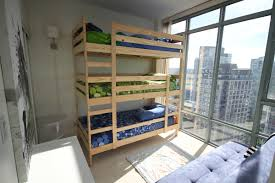 Three Sleeper Bunk Bed Bedroom Triple Bunk Bed With Trundle Quad Bunk Bed Plans Free