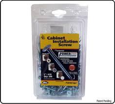 screws to hang cabinets powerhead wood 1 1 8 per box of 200