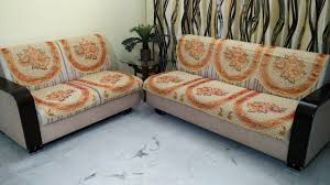 Sofa Covers Online In Bangalore Orange Golden Polycotton Sofa Cover Dc Pack Of 6 U2013 Griiham