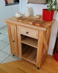 modified version of the rustic x small rolling kitchen island do