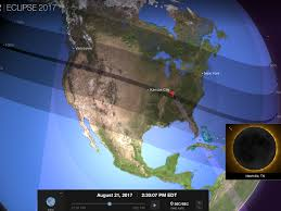 Nashville On Map How Solar Eclipse Will Look In New York Los Angeles Chicago