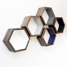 honeycomb shelf minimalist shelves geometric shelving