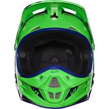 motocross racing helmets fox racing 2016 v1 race helmet flo green available at motocross giant