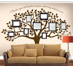 family tree picture frame wall decal with quote vinyl thingz family tree picture frame wall decal family tree decal with quotes