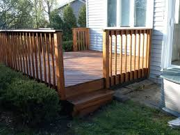 outside wooden deck railing ways to covering a splintering deck