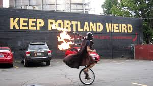 Unicycle Meme - unicycling darth vader upgrades to flaming bagpipes keep portland