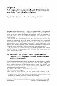comparative analysis essay sample a comparative analysis of anti discrimination and data protection inside