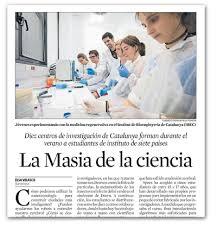 Challenge La Vanguardia Ibec In The Media Institute For Bioengineering Of Catalonia