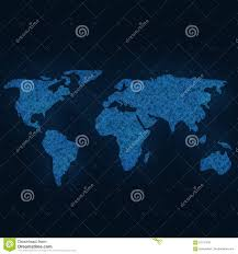 world abstract map vector background futuristic style card