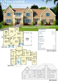 Twin Home Floor Plans Plan 42409db Beautifully Proportioned Traditional House Plan