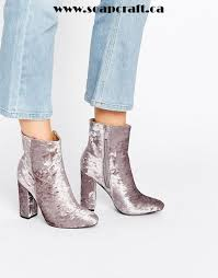 s heeled boots canada shoes pull elastic chunky heeled ankle boot