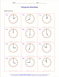 telling time worksheets for 1st grade work pinterest