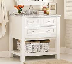 Pottery Barn Bathroom Vanities Single Sink Console White Pottery Barn