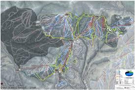 Park City Utah Map Utah Ski Maps Deer Valley Ski Resort Trail Map