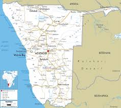 Map Of Southern Africa by Map Of Namibia And Namibian Road Map Reizen Pinterest Africa