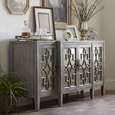 Sideboard Table Furniture Mirrored Buffet With Gorgeous And Antique Design