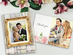 wedding thank you postcards wedding thank you cards w photos from your big day personalized